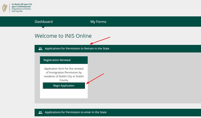 nuevo portal para renovar la tarjeta irp irlanda