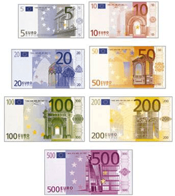 billetes de euro irlanda