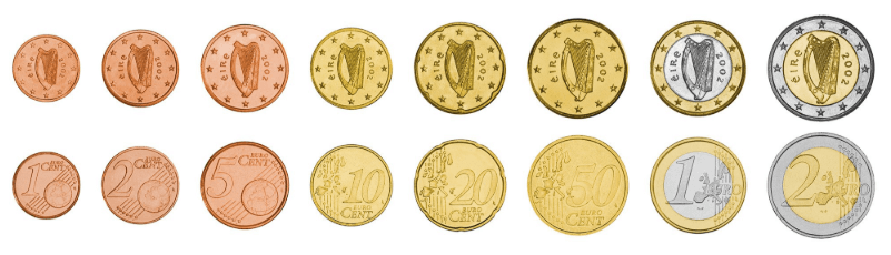 euro moneda de irlanda
