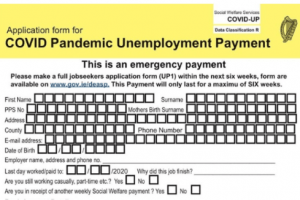 pago por desempleo irlanda