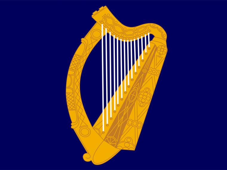 bandera del presidente de Irlanda