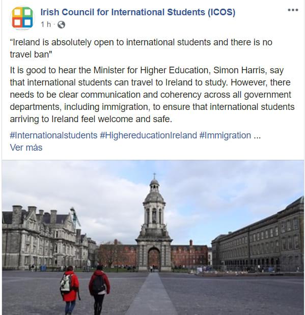consejo de estudiantes en irlanda