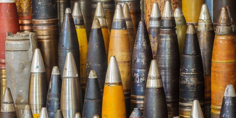 Bombas usadas para bombardear Irlanda durante el seguno conflicto bélico mundial