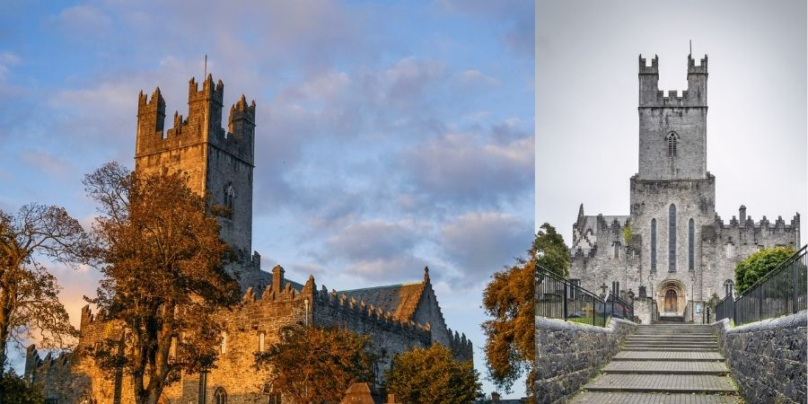 Catedral de Santa María Vista desde dos ángulos en Limerick