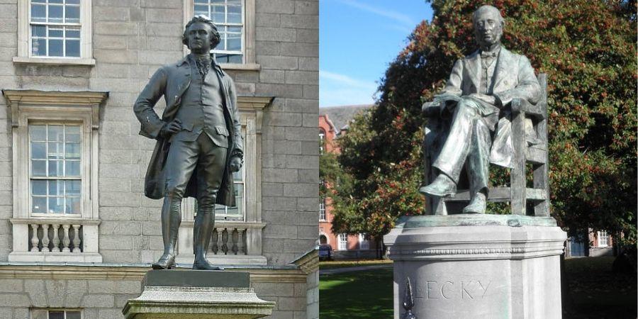 estatuas en trinity college dublin