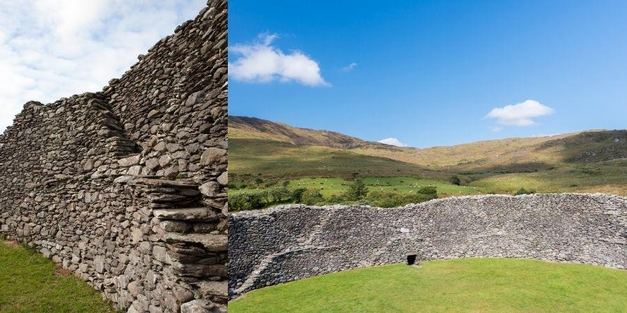 vistas internas del Fuerte de Piedra Staigue en el Anillo de Kerry