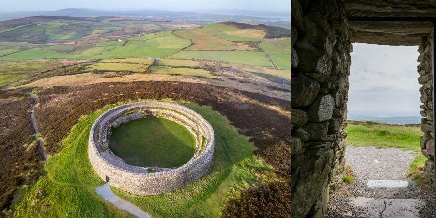 Vista aérea de Grianán de Ailech en Donegal