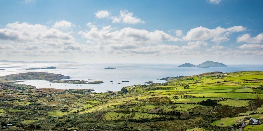 Vista Aérea de la Isla de Skelling del Anillo de Kerry