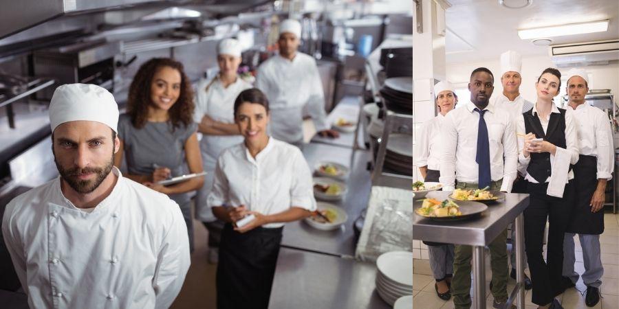 Staff de la cocina y kitchen porter