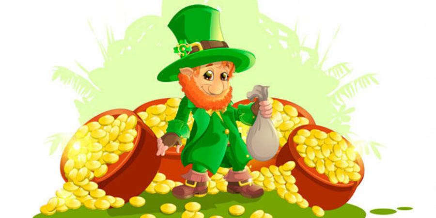 leprechauns con su botin de oro