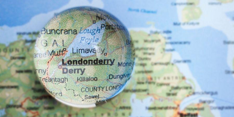 Mapa decorativo de Londonderry
