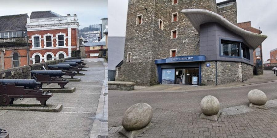 Vista Frontal del Museo de la Torre en Londonderry