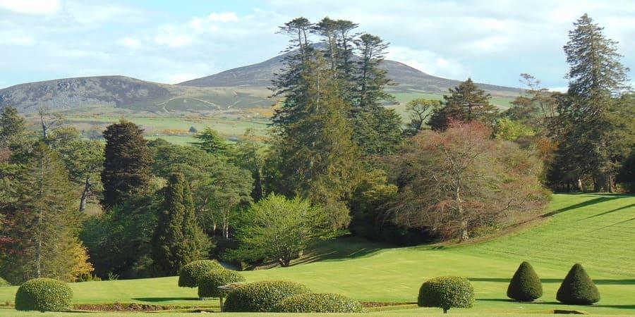 Powerscourt Jardín ubicado en el bosque de Wicklow.