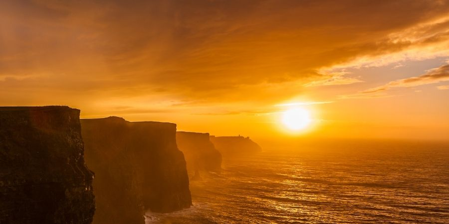 Acantilados de Moher puesta del sol