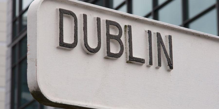 Aviso de Dublín la capital de Irlanda