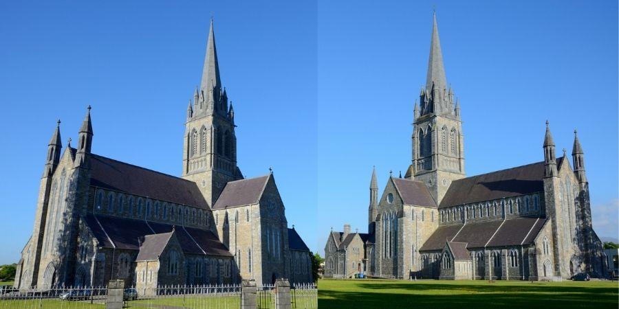 vistas laterales de la Catedral de Santa  María en anillo de Kerry