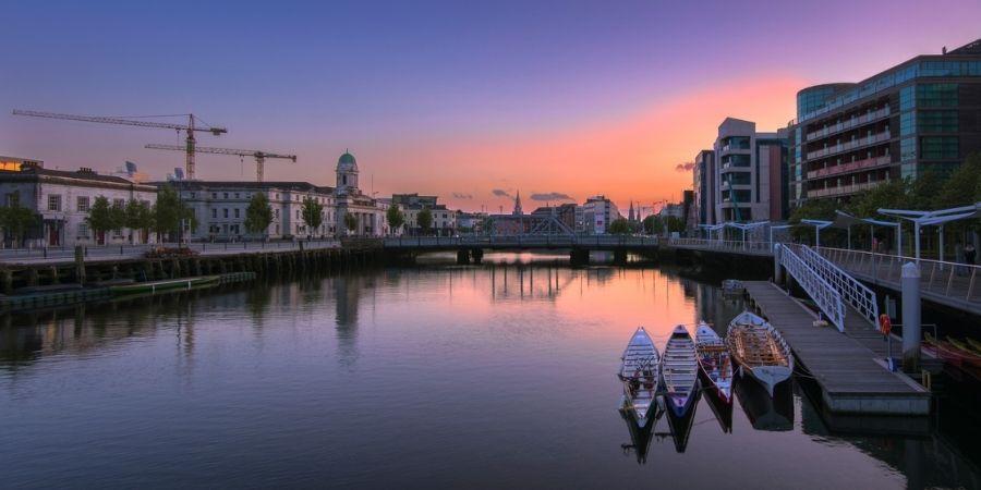 Un atardecer en Cork Ciudad de Irlanda