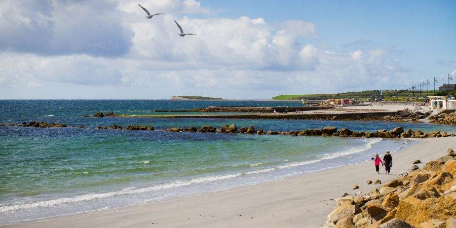 paisaje y clima húmedo Galway, Irlanad
