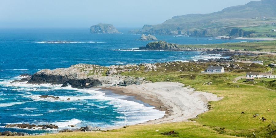 Costa del Condado de Donegal Irlanda