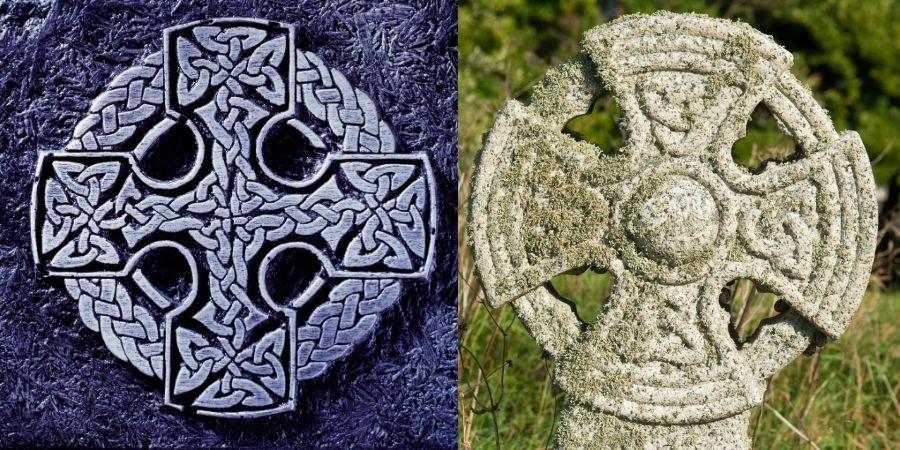 La Cruz Céltica usada en dos objetos diferentes
