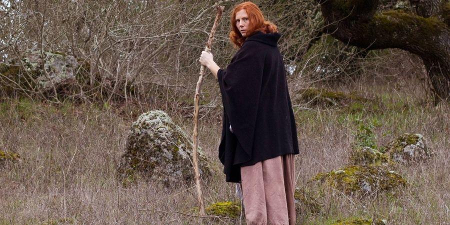 Druidesa Celta en el Bosque