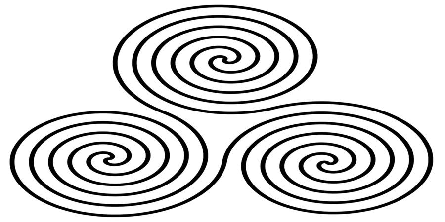 espiral triple representa el numero celta tres
