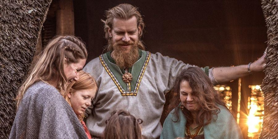 Mujeres celtas y su familia