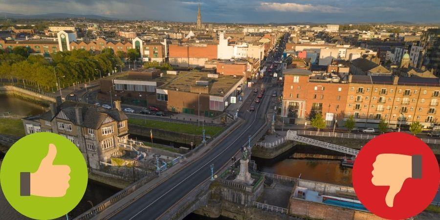 Vista aérea de la ciudad de Limerick