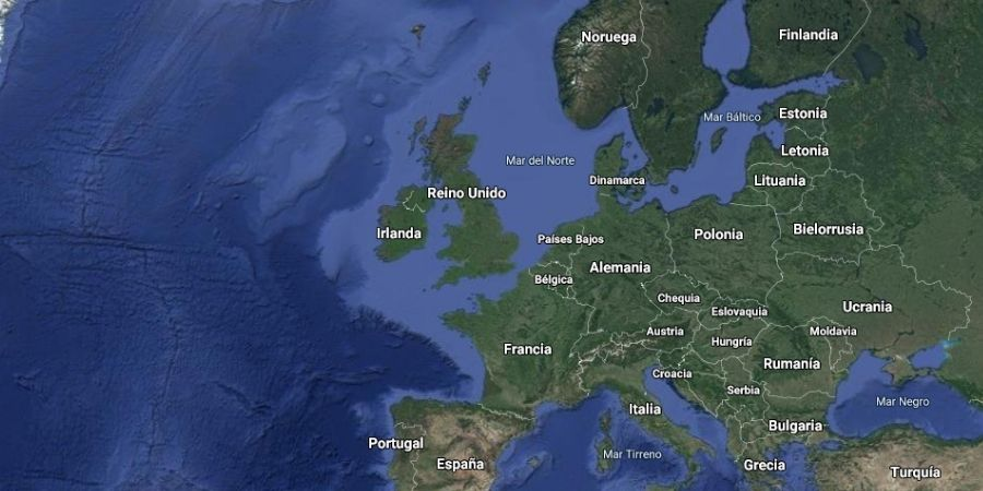 Mapa Político de la República de Irlanda en Europa