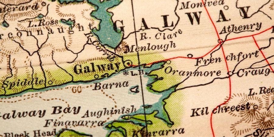Galway, ubicación en el mapa