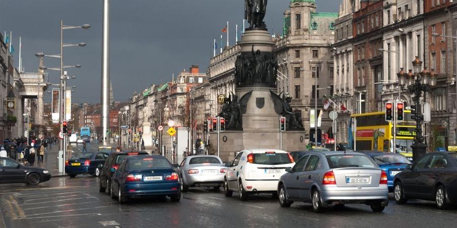 La Calle O´Connell vista de día en Dublín Ireland