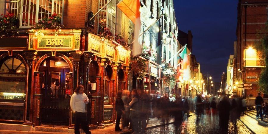 Imagen de un Pub muy famoso en Dublin vs Cork