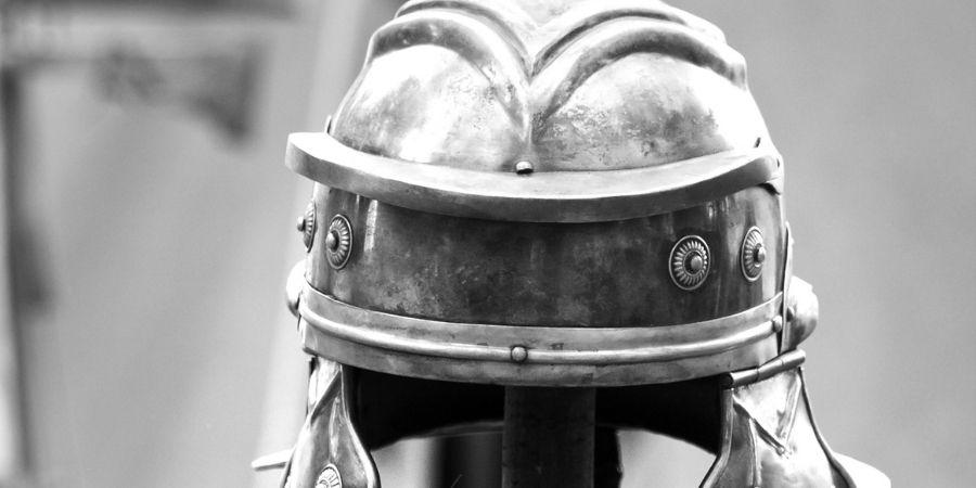 guerrero celta y casco para la guerra