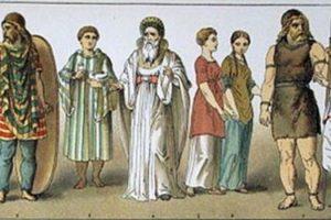 La vestimenta celta se destacaba por sus bellos colores.
