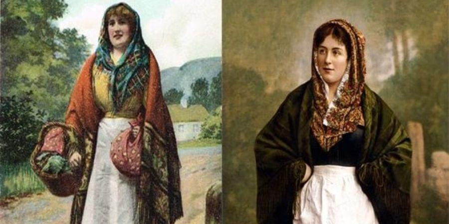 Tipica vestimenta celta en la edad de hierro.