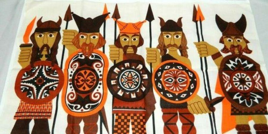 Los guerreros celtas usaban el tipico armamento celta con su falda de guerra.