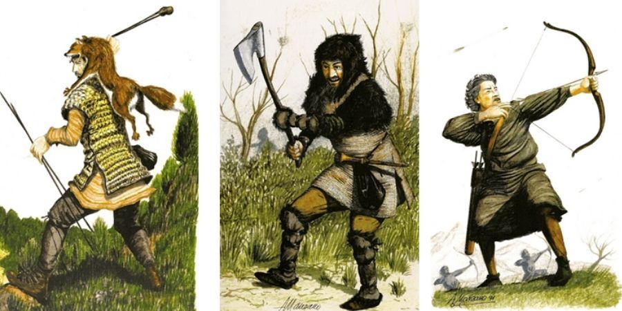 Los luggones eran guerreros de poca tecnología.
