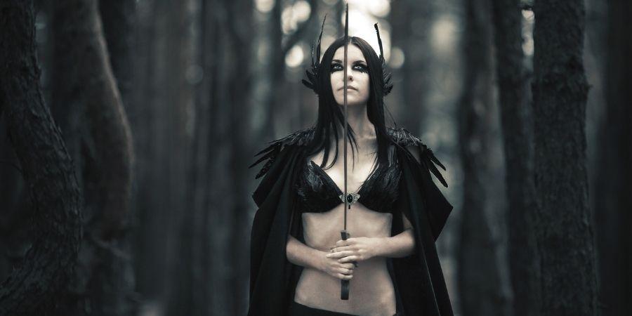 Diosa de los guerreros celtas Morrigan