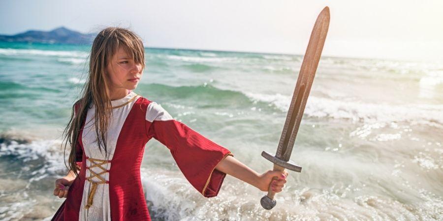 Educación de una niña celta