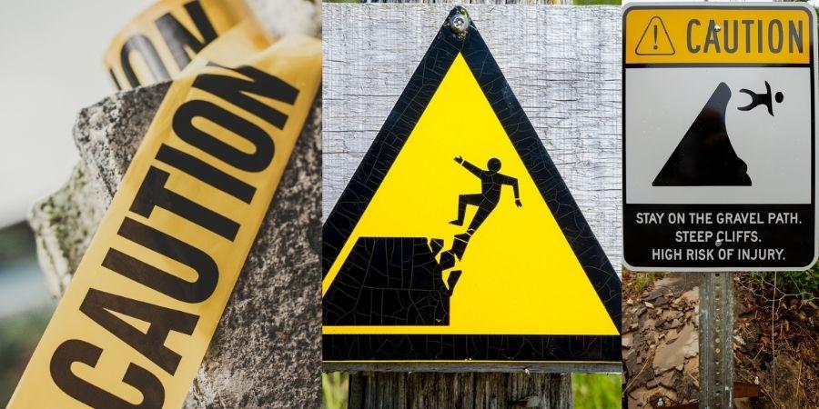 Avisos de medidas preventivas de riesgos