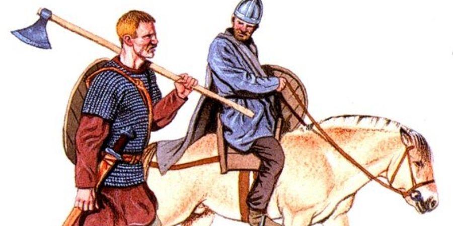 Los caballeros celtas solían portar sus armas junto con su vestimenta.