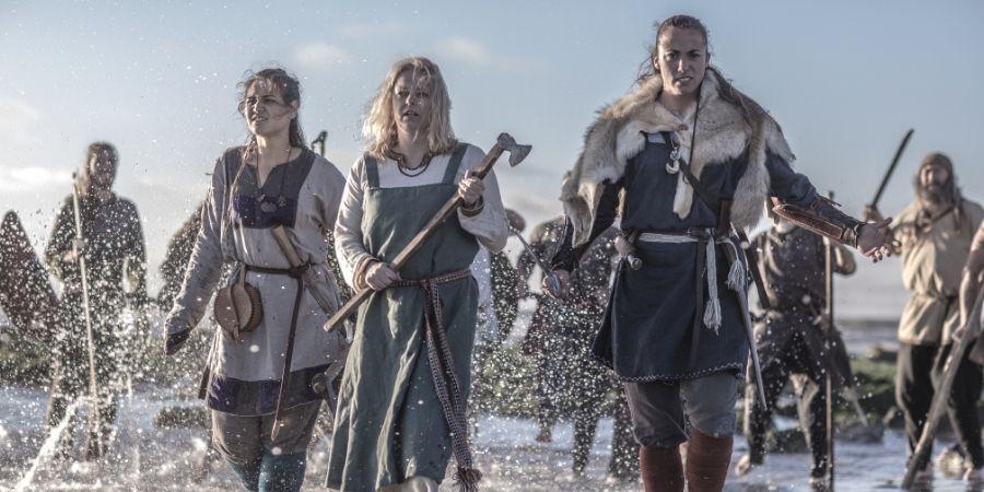 A veces las mujeres eran participes de las batallas libradas por los celtas.