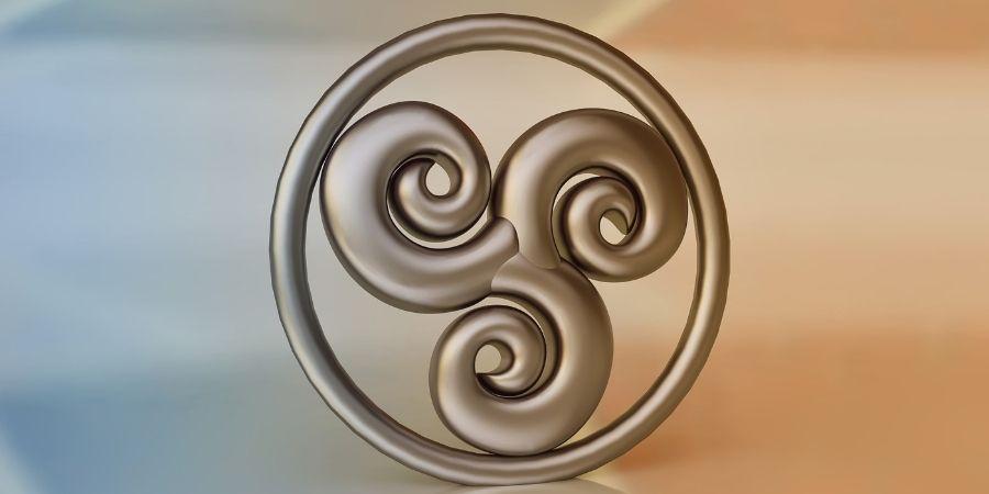 el trisquel es un simbolo de hechiceria celta