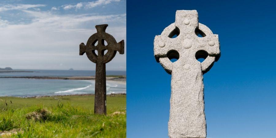 Un símbolo de la mitología Celta es la Cruz Celta, importante guia pagana y cristiana