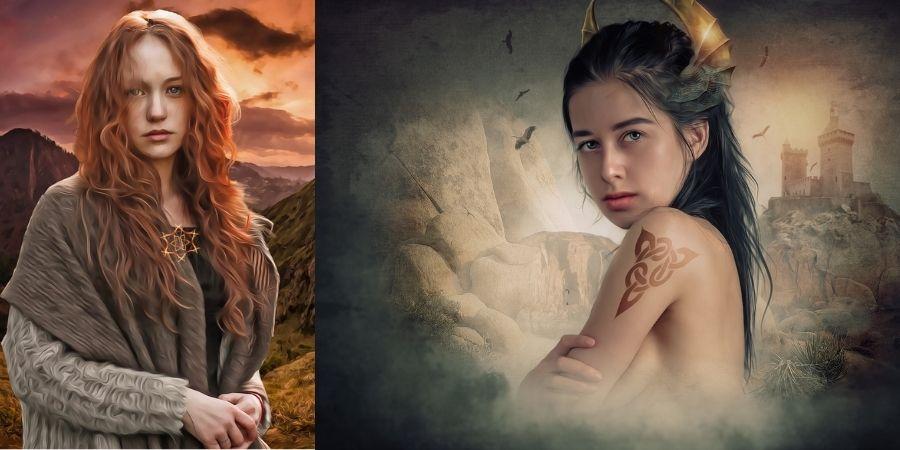 Mitología Celta, Diosas y héroes